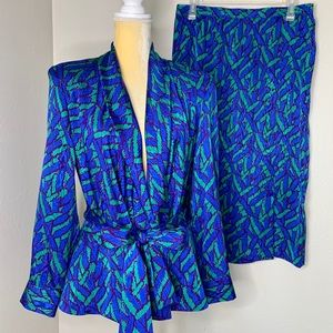 Schrader Sport Vintage Teal 2-Piece Skirt Set 14